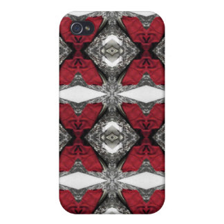 Red Lens Pattern iPhone 4/4S Case