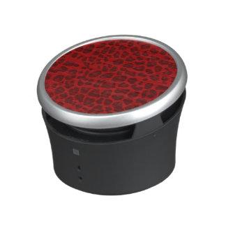Red leopard print pattern bluetooth speaker