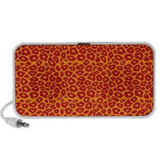 Red Leopard Travel Speaker