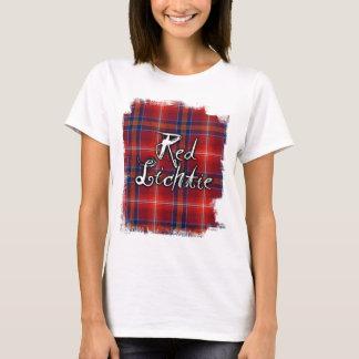 Red Lichtie Tartan Graffit - T-Shirt