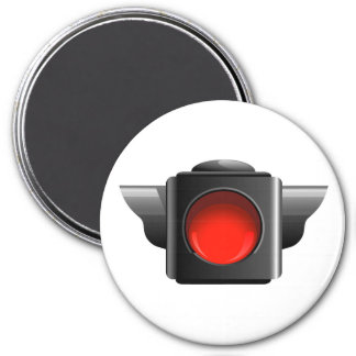Red Light for Classroom Management / Whatever! 7.5 Cm Round Magnet