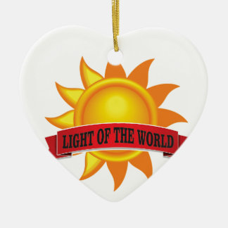 red light of the world ceramic ornament