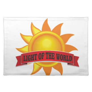 red light of the world placemat