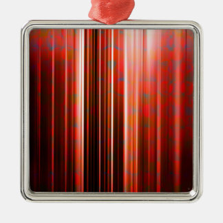 Red light streaks pattern Silver-Colored square decoration