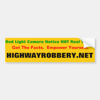 Red Light Ticket Bumper Sticker