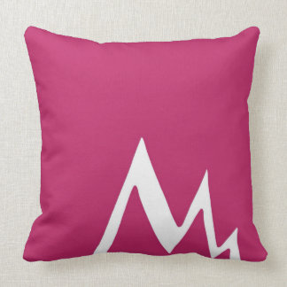 Red Lightning Strike ZigZag Design Throw Pillow