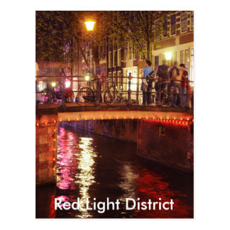 Red Lights District at night Postcard