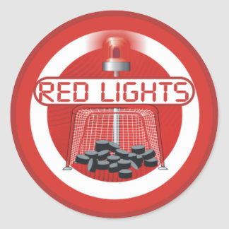 Red Lights Round Sticker
