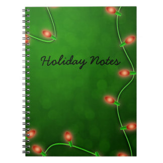 red lights spiral notebook