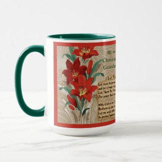 Red Lilies and Christmas Lyrics - Personalized Mug