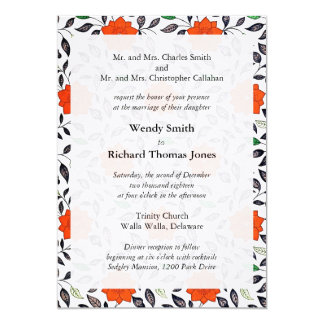 Red Lilies Parents of the Bride Invitations