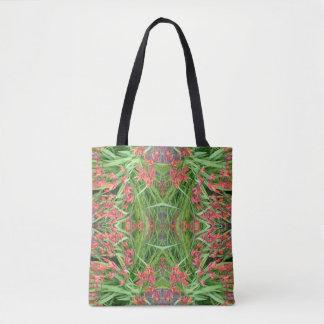 Red Lily Flower Fractal Tote Bag