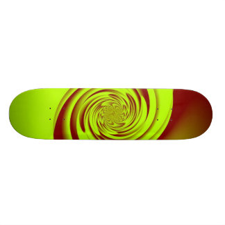 Red Lime Swirl Skateboard