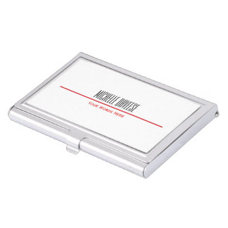 Red Line Business Card Set | Business Card Case