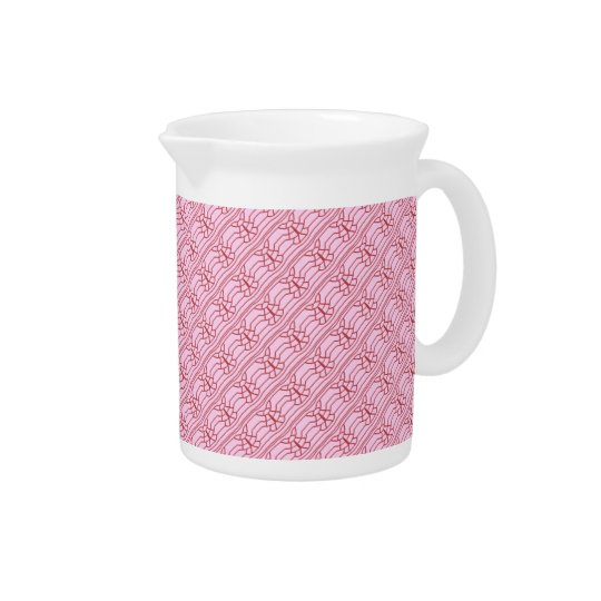 Red Line on Pink Beverage Pitcher