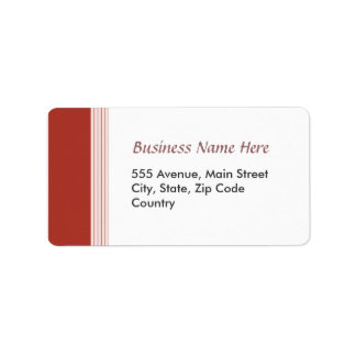 Red Lined Address Label