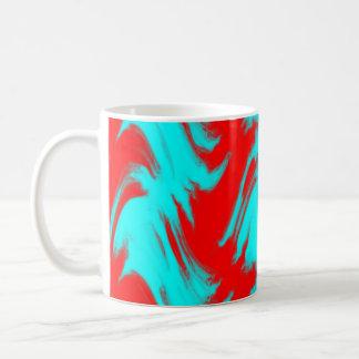 Red Lines Basic White Mug
