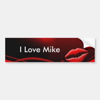 Red Lip Kisses Bumper Sticker