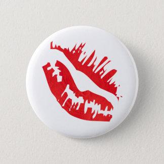 Red Lip Retro 6 Cm Round Badge