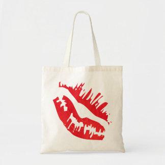 Red Lip Retro Tote Bag