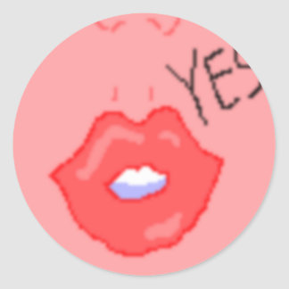 Red Lip Stickers (Small)