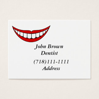 red lips and teeth business card