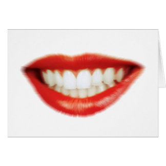 Red lips card