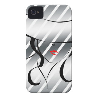 Red lips iPhone 4 case
