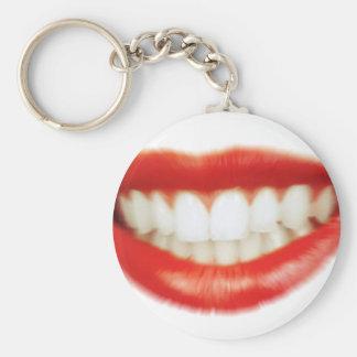 Red lips key ring