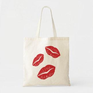 Red Lips Lipstick Love Passion Kiss Kisses Tote Bag