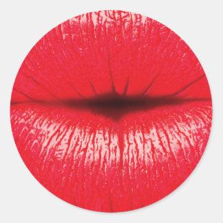 Red Lips lipstick pop art kiss Stickers