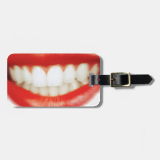 Red lips luggage tag
