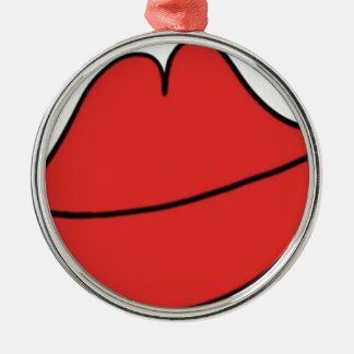 Red Lips Metal Ornament