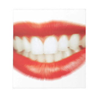 Red lips notepad