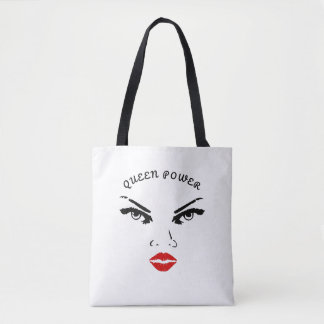 Red Lips Queen Power Tote Bag
