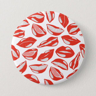 Red Lips ready to kiss 7.5 Cm Round Badge
