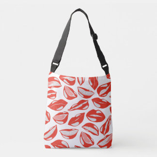 Red Lips ready to kiss Crossbody Bag