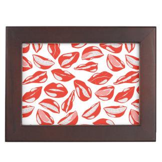 Red Lips ready to kiss Keepsake Box