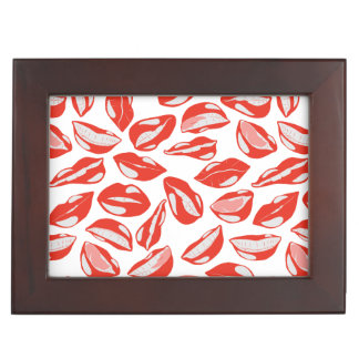 Red Lips ready to kiss Memory Box