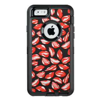 Red Lips ready to kiss OtterBox Defender iPhone Case