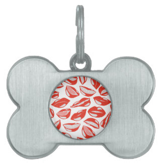 Red Lips ready to kiss Pet ID Tag