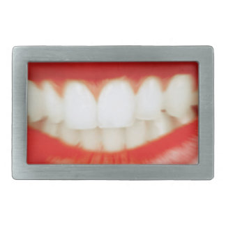 Red lips rectangular belt buckles