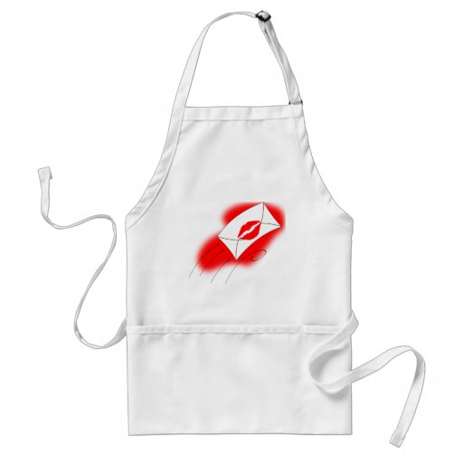 Red Lips Sealed with a Kiss Aprons