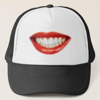 Red lips trucker hat