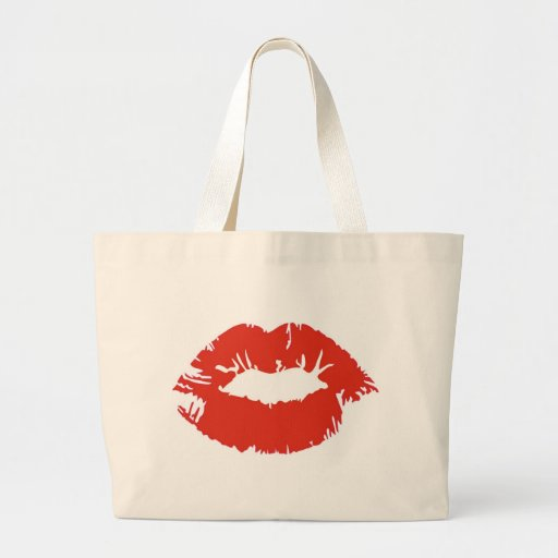 Red Lipstick Canvas Bags