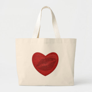 Red Lipstick Canvas Bag