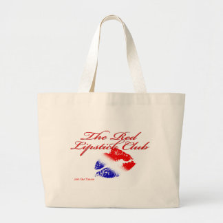 Red Lipstick Club Canvas Bags