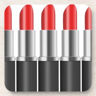 Red lipstick. coaster