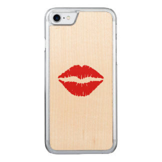 Red Lipstick Kiss Carved iPhone 8/7 Case