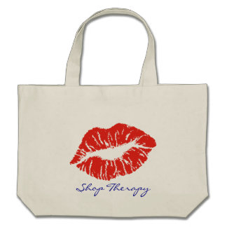 Red Lipstick Kiss Shop Therapy Bag